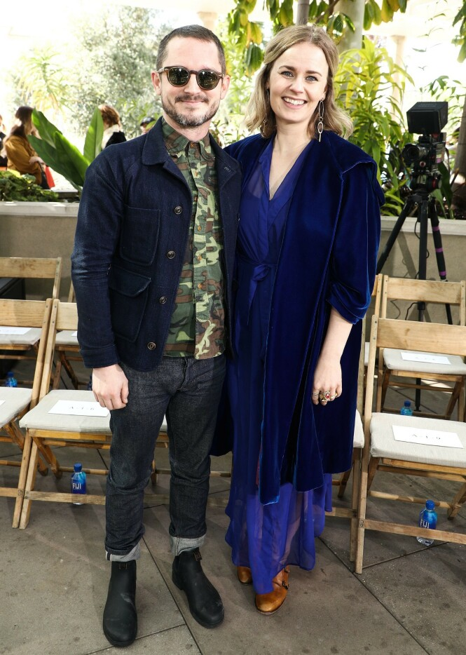 FORELDRE: Nylig ble det kjent at Elijah Wood og Mette-Marie Kongsved har blitt foreldre. Foto: NTB scanpix
