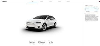 <strong>IKKE I NORGE:</strong> På de amerikanske Tesla-sidene har de såkalte «Long Range»-versjonene av de to modellene blitt omdøpt «Long Range Plus». På de norske sidene er alt som før.