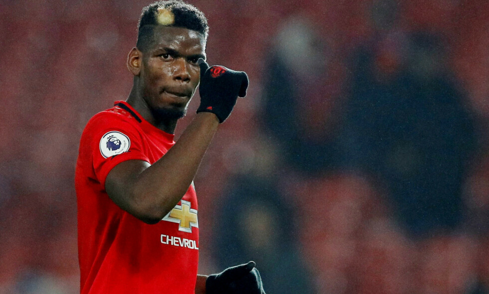 REAGERER: Paul Pogba forstår lite av kritikken som har kommet mot ham. Foto: REUTERS/Phil Noble/NTB Scanpix