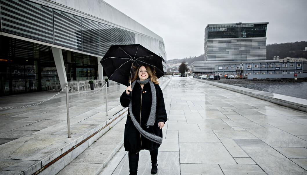 BESØKER KOLLEGER: Ingebjørg Kosmo besøker innimellom operaen for å hilse på kolleger. Foto: Nina Hansen/Dagbladet