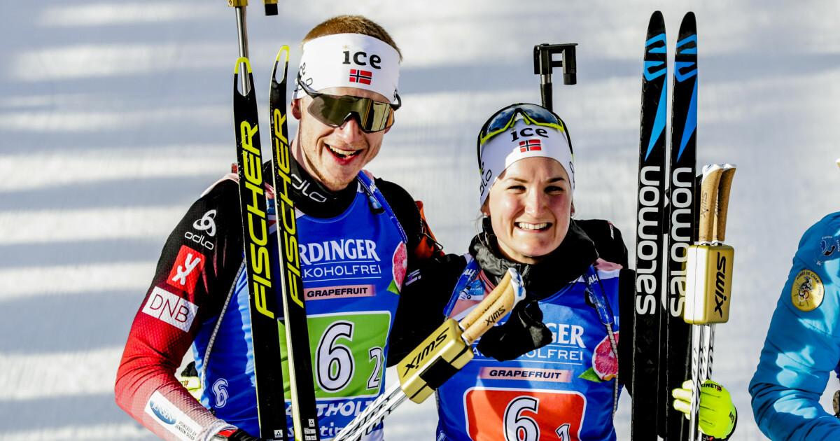 Marte Olsbu Røiseland og Johannes Thingnes Bø vant VM-gull