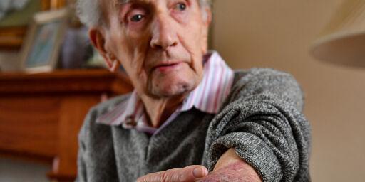 image: Krigsveteran John (102) banket innbruddstyv (47)