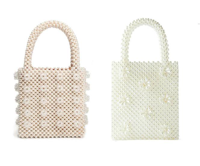 Vesken til venstre koster kroner 5100 og er fra Shrimps. Vesken til høyre koster kroner 399 og er fra Zara.