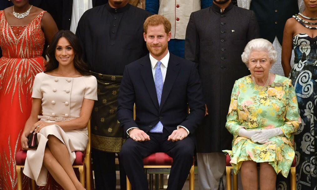 <strong>BRÅTT:</strong> Hertugparet av Sussex hadde egentlig planer om å videreføre merkevaren «Sussex Royal». Det skjer ikke nå, angivelig på grunn av press fra dronning Elizabeth. Foto: NTB scanpix