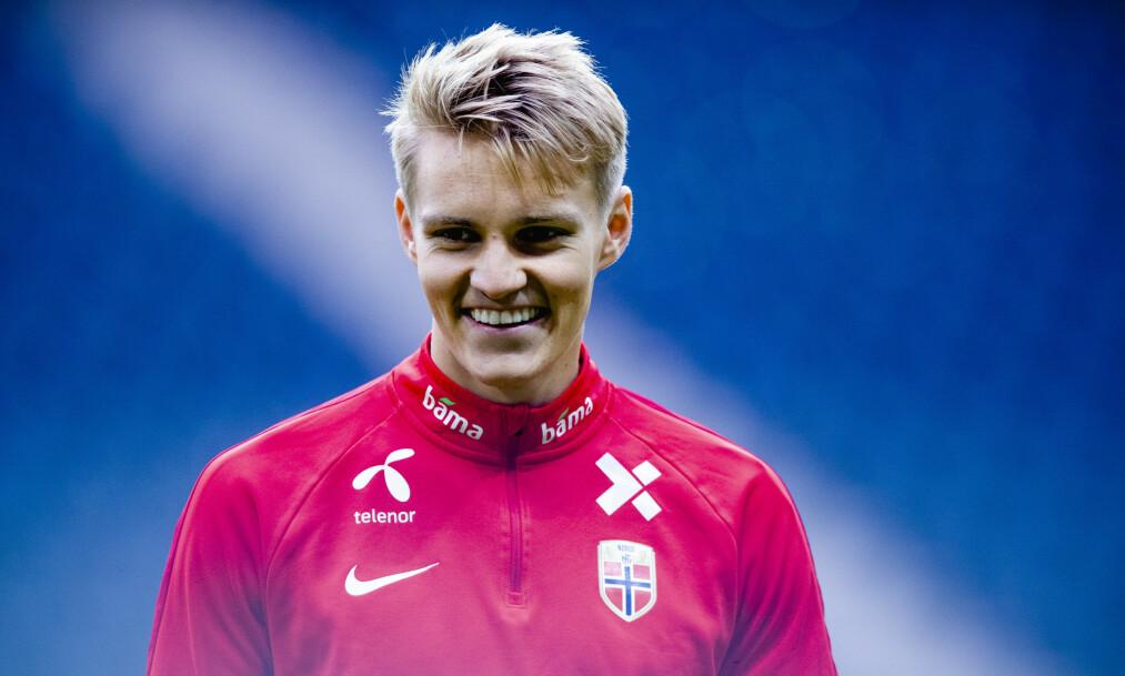 <strong>SINGEL:</strong> Fotballstjernen Martin Ødegaard bekrefter at han er singel. Foto: NTB Scanpix