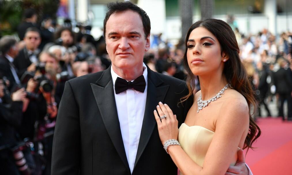 <strong>NYBAKTE FORELDRE:</strong> Quentin Tarantino og kona Daniela Pick kunne lørdag ønske sitt første barn velkommen. Foto: NTB Scanpix