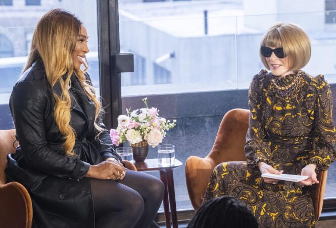 <strong>INSPIRERT:</strong> Under intervjuet med Anna Wintour la ikke Serena Williams skjul på at hun ser på alle mødre som superhelter. Foto: NTB Scanpix