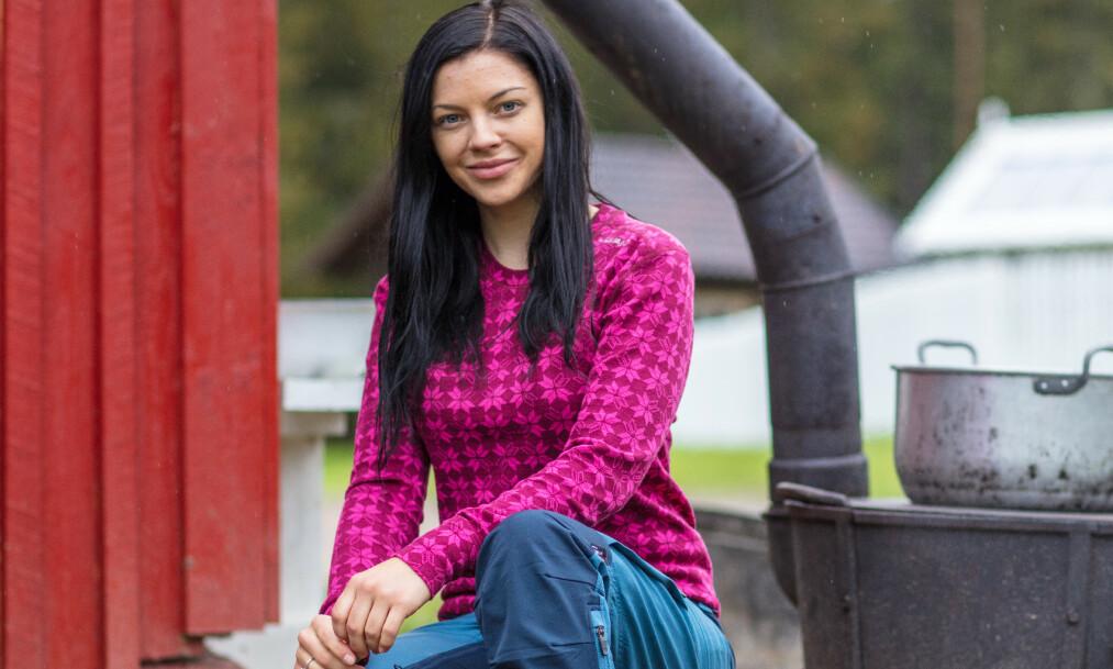 <strong>GA OPP:</strong> Stina Bakken røk ut av «Farmen kjendis» på søndag. Da hun ankom «Torpet» samme dag, innså hun fort at det ikke var noe hun ville. Foto: Alex Iversen / TV 2