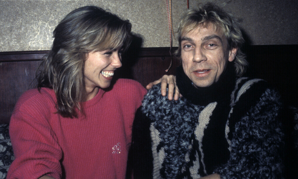NÆRE VENNER: Anita Skorgan og Jahn Teigen i 1986, da de fortsatt var gift. Foto: NTB Scanpix