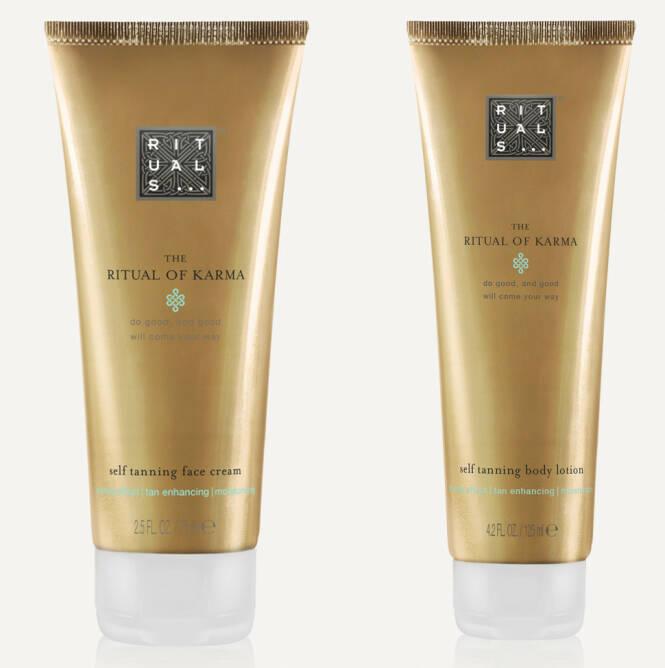Rituals «Ritual of Karma» self tanning face cream og self tanning body lotion. FOTO: Produsenten
