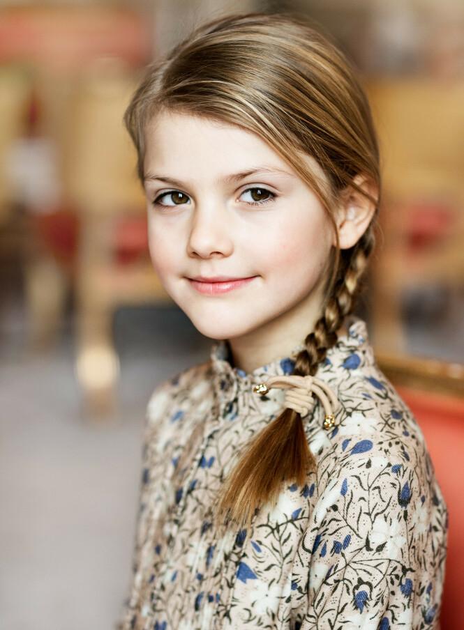 <strong>STRÅLER:</strong> Prinsesse Estelle fylte åtte år forrige helg. Foto: Linda Broström/Kungl. Hovstaterna