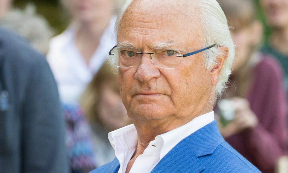 <strong>UTEBLE:</strong> Kong Carl Gustaf var ikke til stede på prinsesse Estelles fødselsdag forrige helg. Foto: NTB scanpix