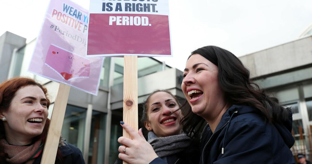 Bind og tamponger blir gratis i Skottland