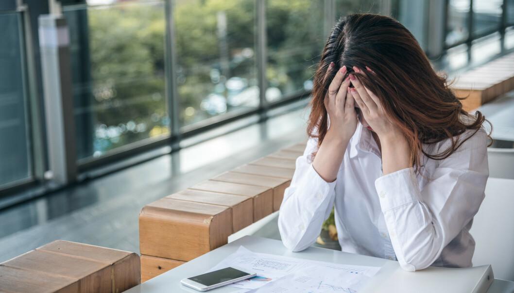SYK AV STRESS: Mange bekymrer seg for hvordan stress påvirker helsa. En beregningsmetode kan vise om du er i faresonen for å bli syk av stress. FOTO: NTB Scanpix