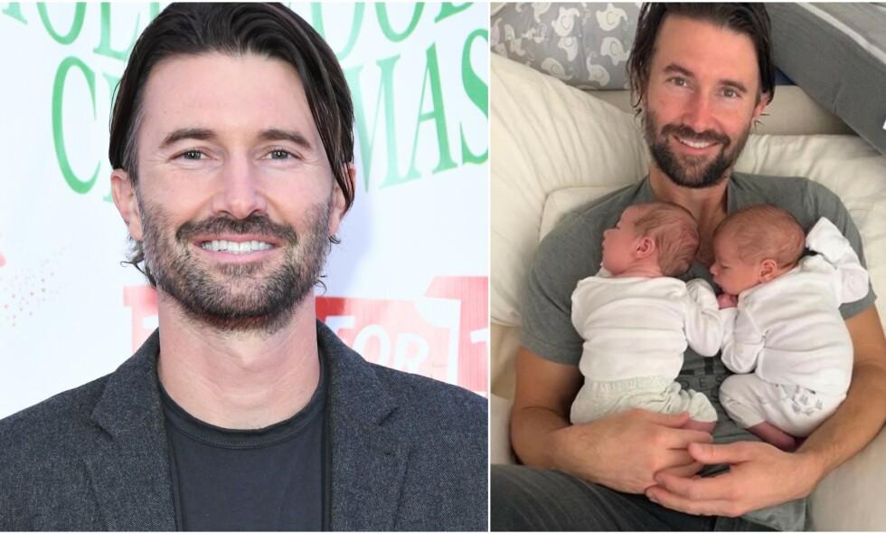 DOBBEL LYKKE: Brandon Jenner ble pappa til tvillinger forrige uke. Foto: NTB scanpix/ Skjermdump fra Instagram
