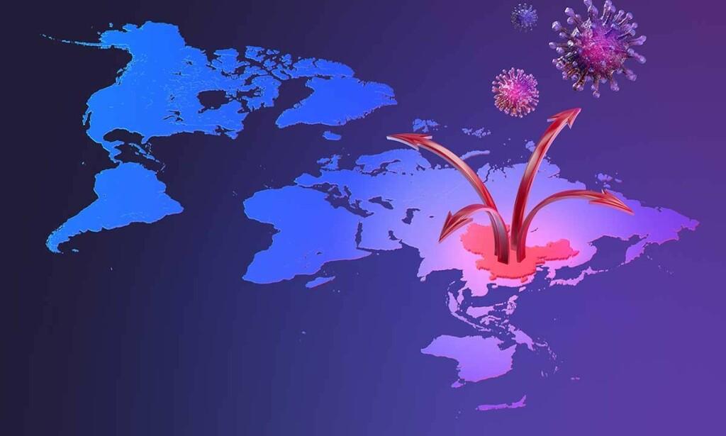 PANDEMI: Coronaviruset startet i Kina og har nå spredd seg til store deler av verden.
