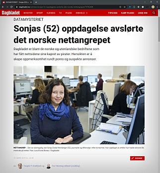 Den første av mange saker som Tor Henning Uelands datagraving førte til. 📸: Dagbladet.no