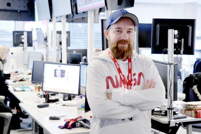 Tor Henning Ueland jobber med alt fra å drifte dagbladet.no til å grave fram store journalistiske saker. Han kan med hånda på hjertet skilte med varierte arbeidsdager. 📸: Ole Petter Baugerød Stokke