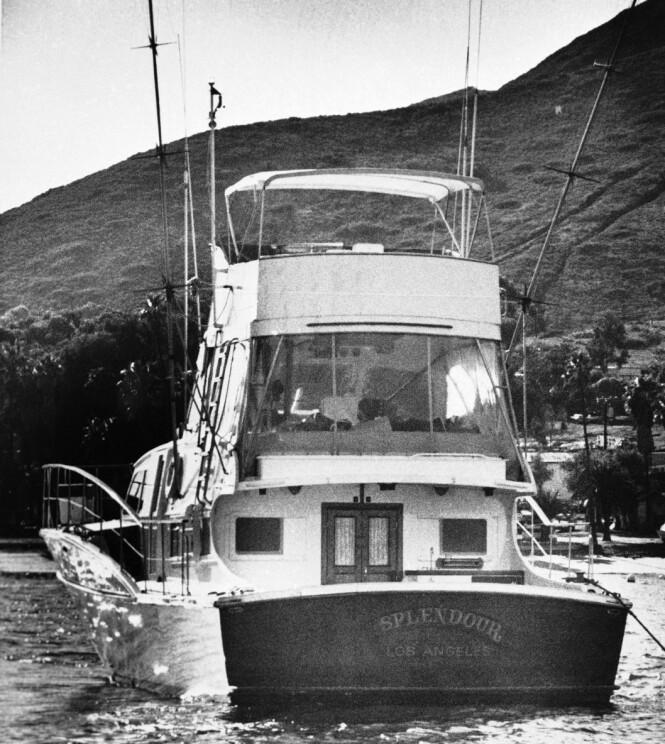 """<strong>GLAD I HAVET:</strong> """"Splendour"""", yachten som Natalie Wood og Robert Wagner kjøpte for å nyte livet på sjøen. Det var fra denne båten hun falt i vannet en mørk høstnatt i 1981. FOTO: NTB Scanpix"""