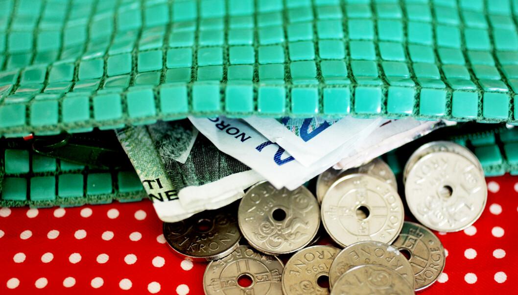 <strong>SVAKT:</strong> Krona har aldri vært svakere mot euroen. Foto: Sara Johannessen / SCANPIX