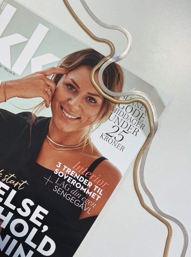PÅ COVERET: Se hvordan Nora Mørk bruker gull og sølv om hverandre! Foto: NTB Scanpix