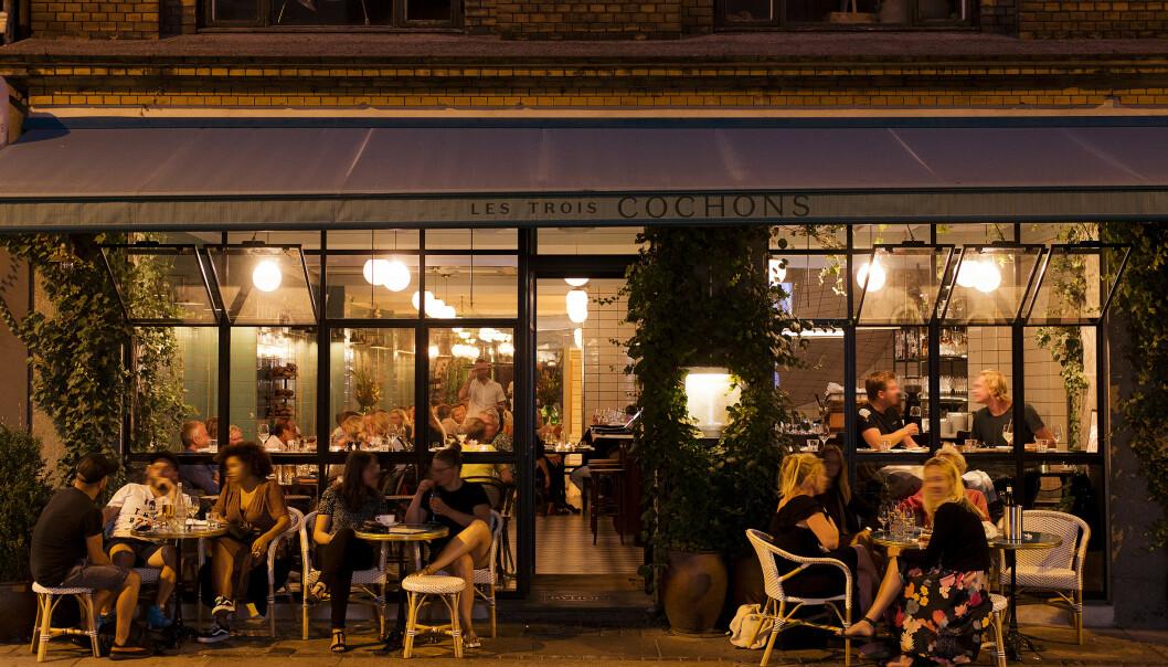 SPENNENDE: Lonely Planet kåret i 2019 København som verdens mest interessante by. Det skyldtes blant annet matscenen. Her er restauranten Les Trois Cochons i nærheten av Vesterbro.