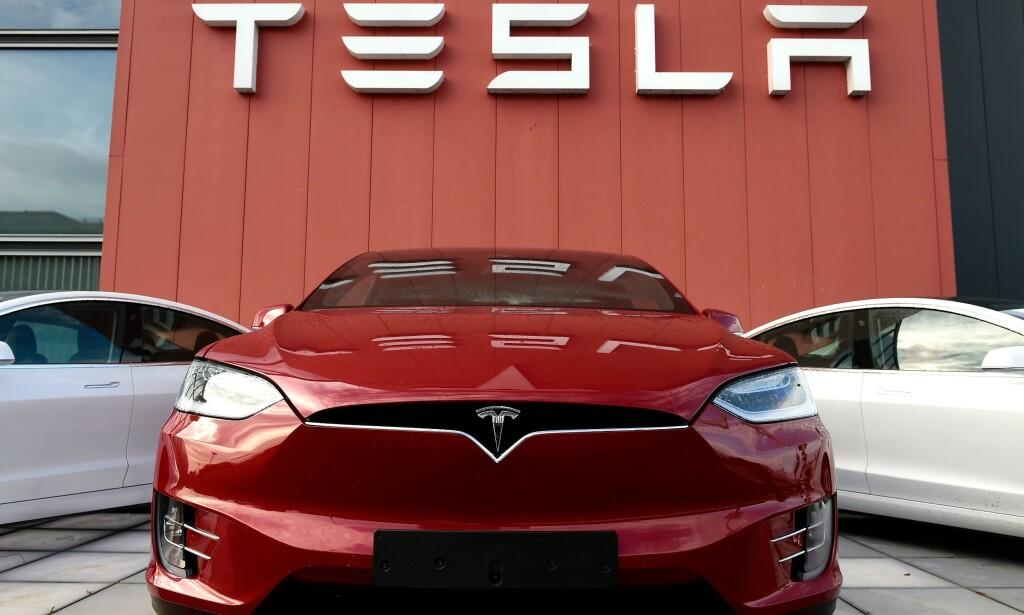 VIL HA NORSK FABRIKK: Venstre-topp Guri Melby vil ha Tesla-fabrikk til Norge hvis Tyskland sier nei. Foto: John Thys / AFP / NTB Scanpix