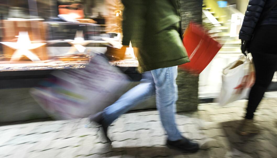 <strong>KRONEREKORD:</strong> Aldri har fått fått så lite i utlandet for norske kroner. Det slår ut på prisene på handleturen. Foto: Gorm Kallestad, NTB scanpix