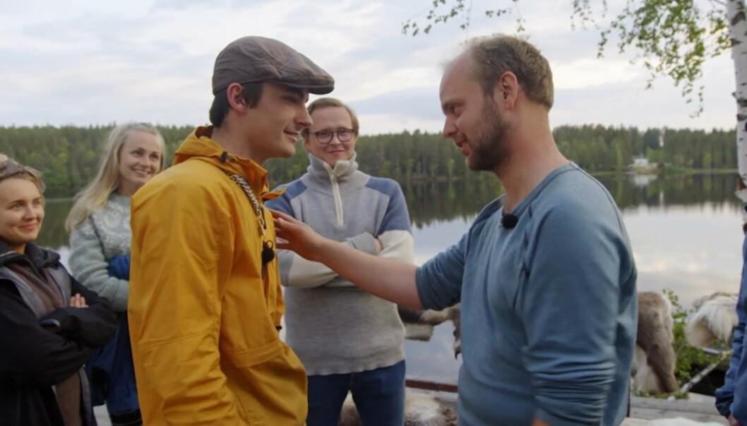 <strong>MØTTES TIL KAMP:</strong> Adrian Sellevoll måtte forlate gården etter at han tapte mot Mimir Kristjánsson i søndagens tvekamp. Foto: TV 2