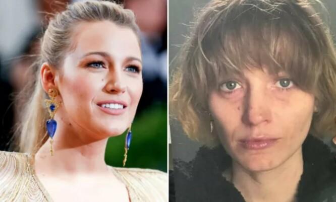 FORANDRET: Blake Lively på rød løper versus som hevngjerrig mor i «The Rhythm Section». FOTO: Scanpix og Instagram