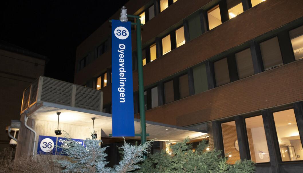 To ansatte ved øyeavdelingen til Ullevål sykehus har fått påvist koronaviruset. Sykehuset jobber nå med å ringe opp pasienter som har vært i kontakt med de to ansatte. Foto: Terje Bendiksby / NTB scanpix
