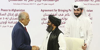 image: USA og Taliban undertegner fredsavtale