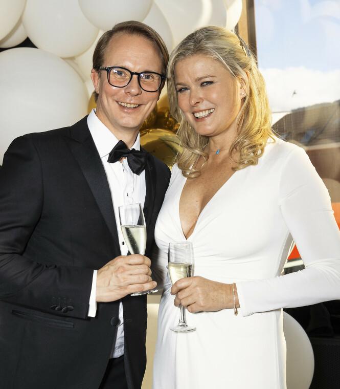 <strong>TURTELDUER:</strong> Petter Pilgaard har tidligere avslørt at han anser Vendela Kirsebom som sin første ordentlige kjæreste. Her avbildet under Gullruten i fjor. Foto: Andreas Fadum