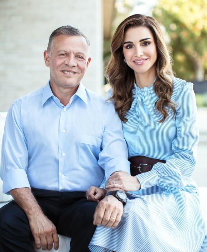 FÅR BESØK: Dronning Rania og kong Abdullah av Jordan får besøk av dronning Sonja og kong Harald. Foto: NTB Scanpix