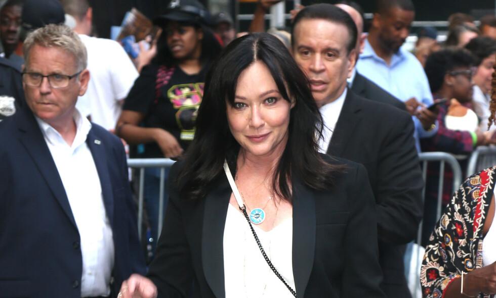 FIKK KREFT: I februar ble det kjent at «Beverly Hills 90210»-stjernen Shannen Doherty hadde blitt rammet av kreft for andre gang. Nå deler hun en oppdatering på Instagram. Foto: NTB Scanpix