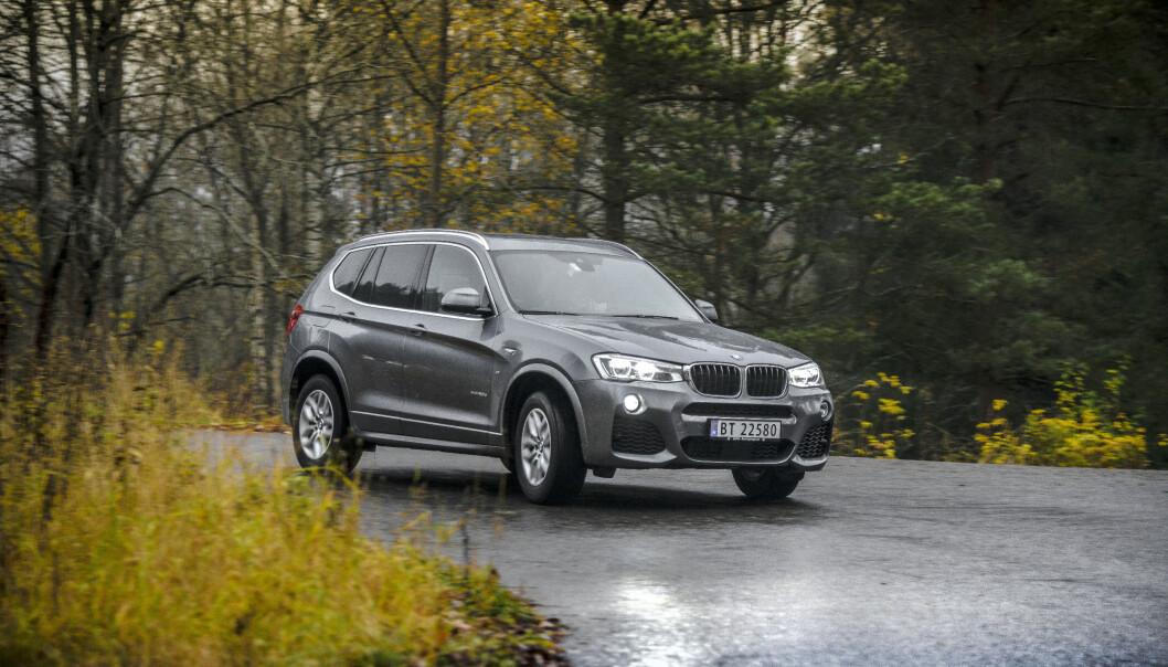 <strong>DIESEL:</strong> Bruktbilsalget av dieselbiler er høyt, viser tall fra Finn.no. Her en BMW X3 fra en test i 2016. Foto: Jamieson Pothecary