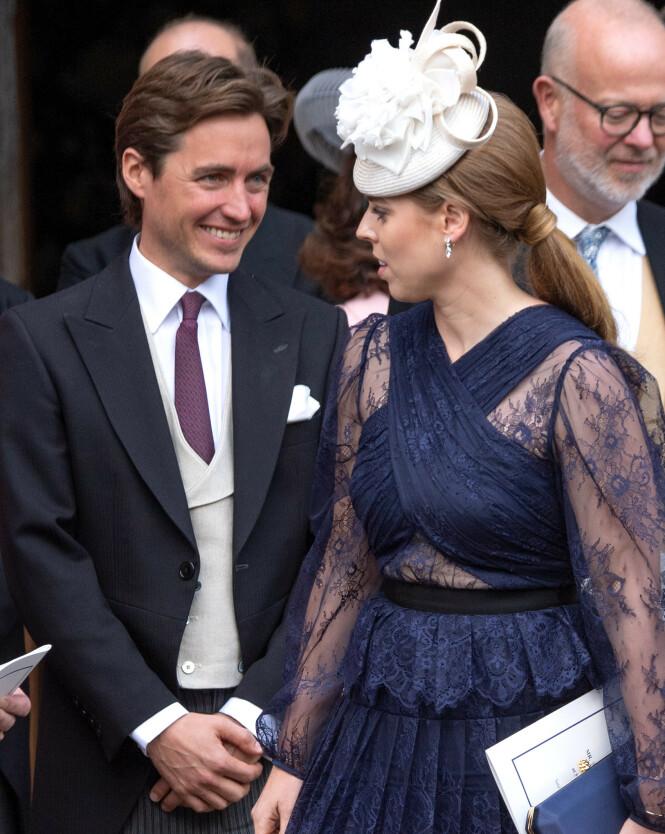 <strong>SKAL GIFTE SEG:</strong> Prinsesse Beatrice og Edoardo Mapelli Mozzi gifter seg 29. mai i år. Foto: NTB Scanpix