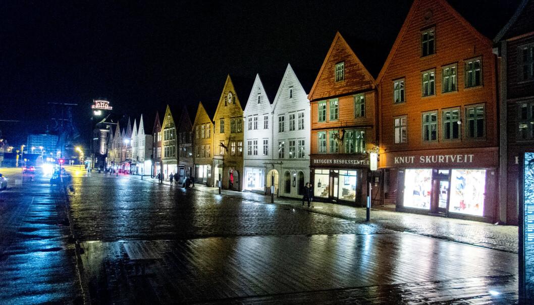 <strong>PERMISJONER:</strong> I likhet med en rekke andre byer i Norge og verden opplever hotellnæringen i Bergen stor nedgang på grunn av koronaviruset. Foto: Gorm Kallestad / NTB scanpix