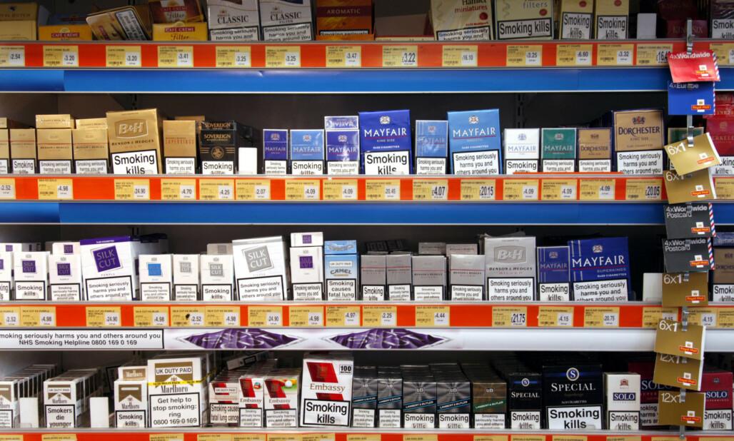 <strong>TRAKK INFLASJONEN NED:</strong> Tobakk og alkohol var blant varene som trakk inflasjonen ned. Foto: Alex Segre / REX