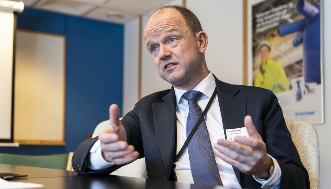 <strong>KNIPER:</strong> NHOs administrerende direktør forklarer hvorfor arbeidsgiverne vil holde igjen i årets lønnsoppgjør. Foto: Lars Eivind Bones
