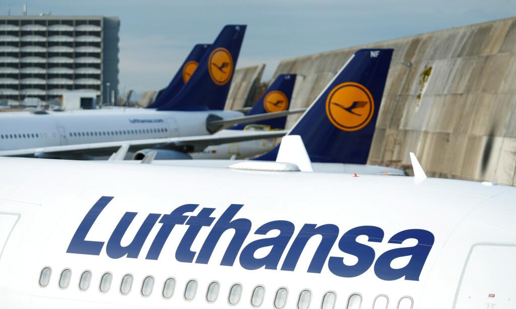 FLYKONSEKVENSER: Lufthansa innstiller en rekke ruter som følge av virusfrykt og karantenebestemmelser. Foto: NTB Scanpix