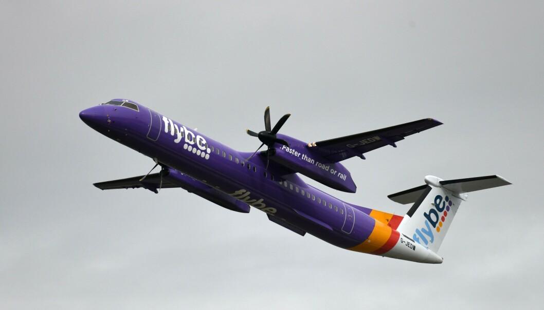 <strong>KONKURS:</strong> Det britiske selskapet Flybe er det første til å gå over ende som følge av utbruddet av coronaviruset. Det blir neppe det siste, tror britisk ekspert. Foto: Ina Fassbender / AFP / NTB Scanpix