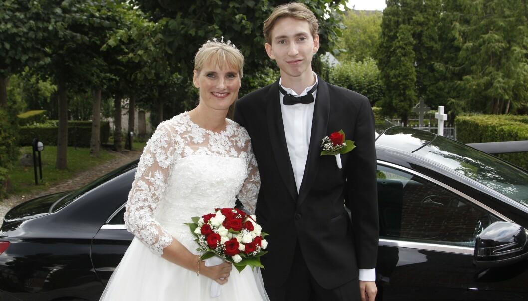 <strong>MOR OG SØNN:</strong> Camilla og Ludwig av Rosenborg avbildet i 2018, da Camilla giftet seg med Ivan Ottesen. Foto: NTB Scanpix