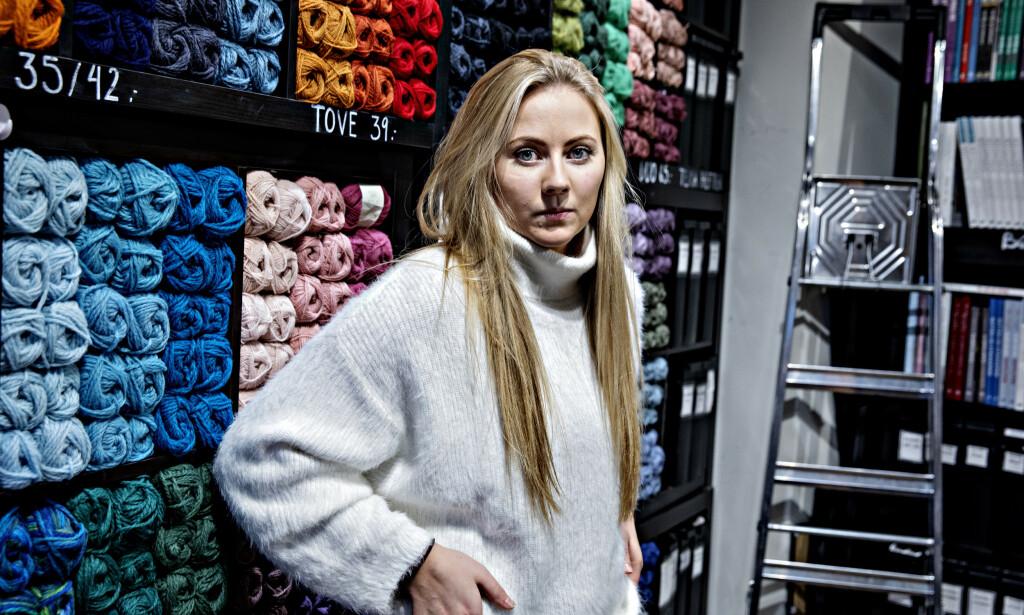 BEKYMRET: Pernille Sandin i butikken Nøstet mitt er bekymret for hva som kan skje dersom kunder uteblir eller halvparten av de ansatte plutselig er hjemme samtidig, sier Sandin. Foto: Nina Hansen / DAGBLADET