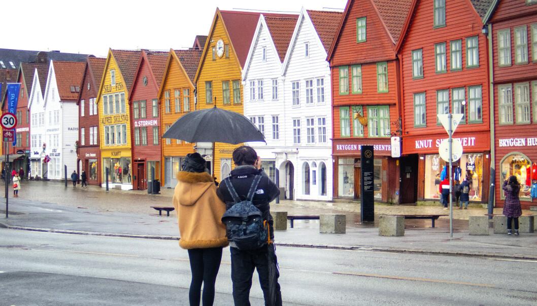 <strong>BRÅSTOPP:</strong> Turistnæringa melder om bråstopp i bookinger, både blant norske og utenlandske turister. Foto: Gorm Kallestad / NTB scanpix