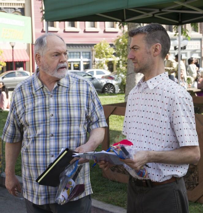 Michael Winters (t.v.) og Sean Gunn (t.h.) Foto: NTB Scanpix