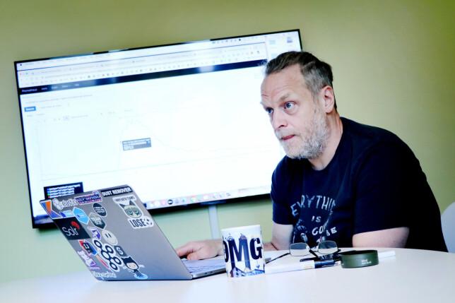Fredrik Rødland er teknisk ansvarlig på søketeamet, og har jobbet i Finn siden 2005. 📸: Ole Petter Baugerød Stokke