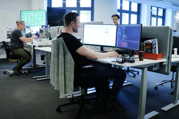 Søketeamet sine kontorplasser i Finn-lokalet. 📸: Ole Petter Baugerød Stokke