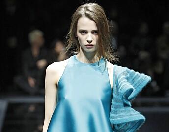 <strong>TOM SAL:</strong> Giorgio Armanis visning under Milan Fashion Week i slutten av februar gikk for tom sal. Foto: Camera Press / Mega / NTB Scanpix