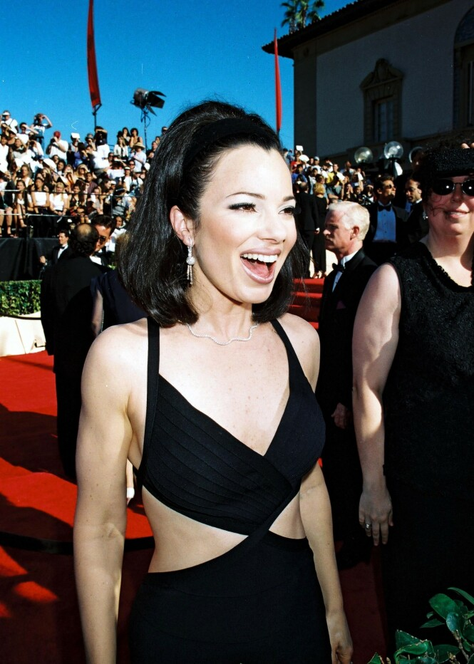 90-TALLSIKON: Fran Drescher på rød løper under Emmy Awards  i 1996. FOTO: NTB scanpix